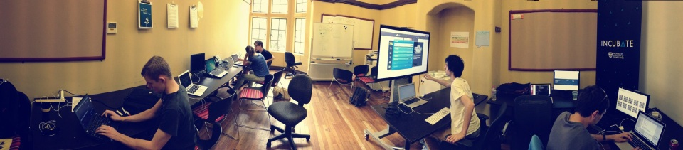 Startup teams working out of our co-working space