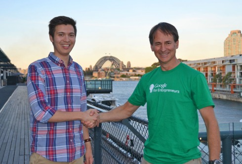 James Alexander, INCUBATE Program Manager and Alan Noble, Google Australia