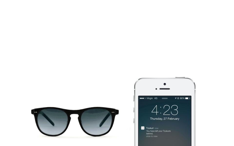 Tzukuri Sunglasses and Iphone