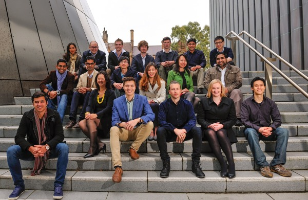 The founders of the INCUBATE Winter Startups pictured with Program Manager, James Alexander (front row/centre left) and Project Manager, Jo Morrison (front row/second right)