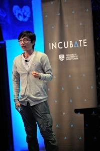 PicPac on stage at Incubate Demo Day