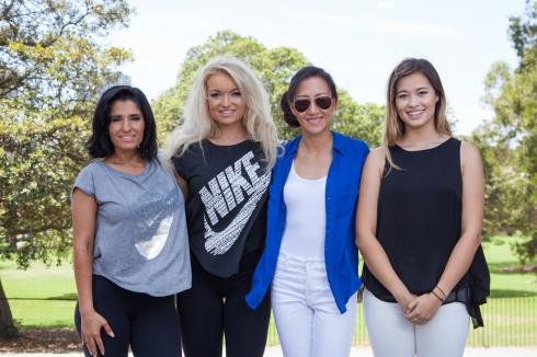 The Female startup founders of Incubate class 7; Amal Wakim, Jade Spooner, Anna To and Giselle Gray